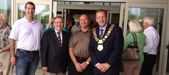 Mark, MPP Jim Bradley, Rick and Mayor Brian McMullan